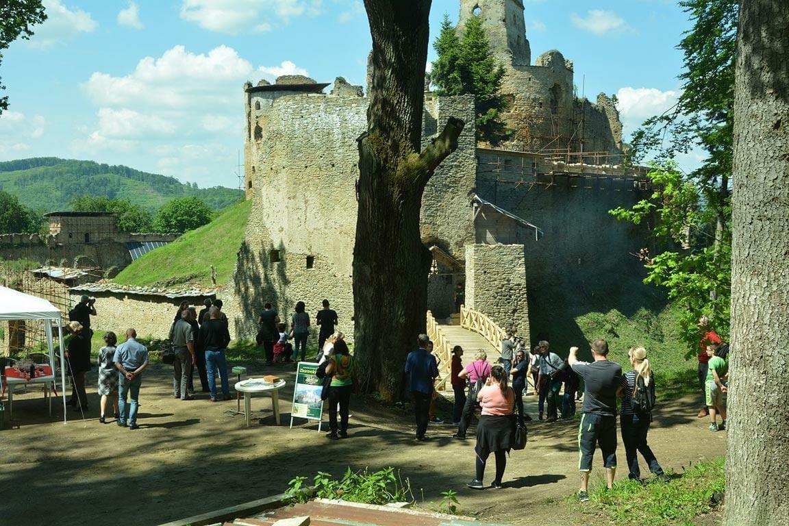 Otvorenie mosta na hrade Zborov