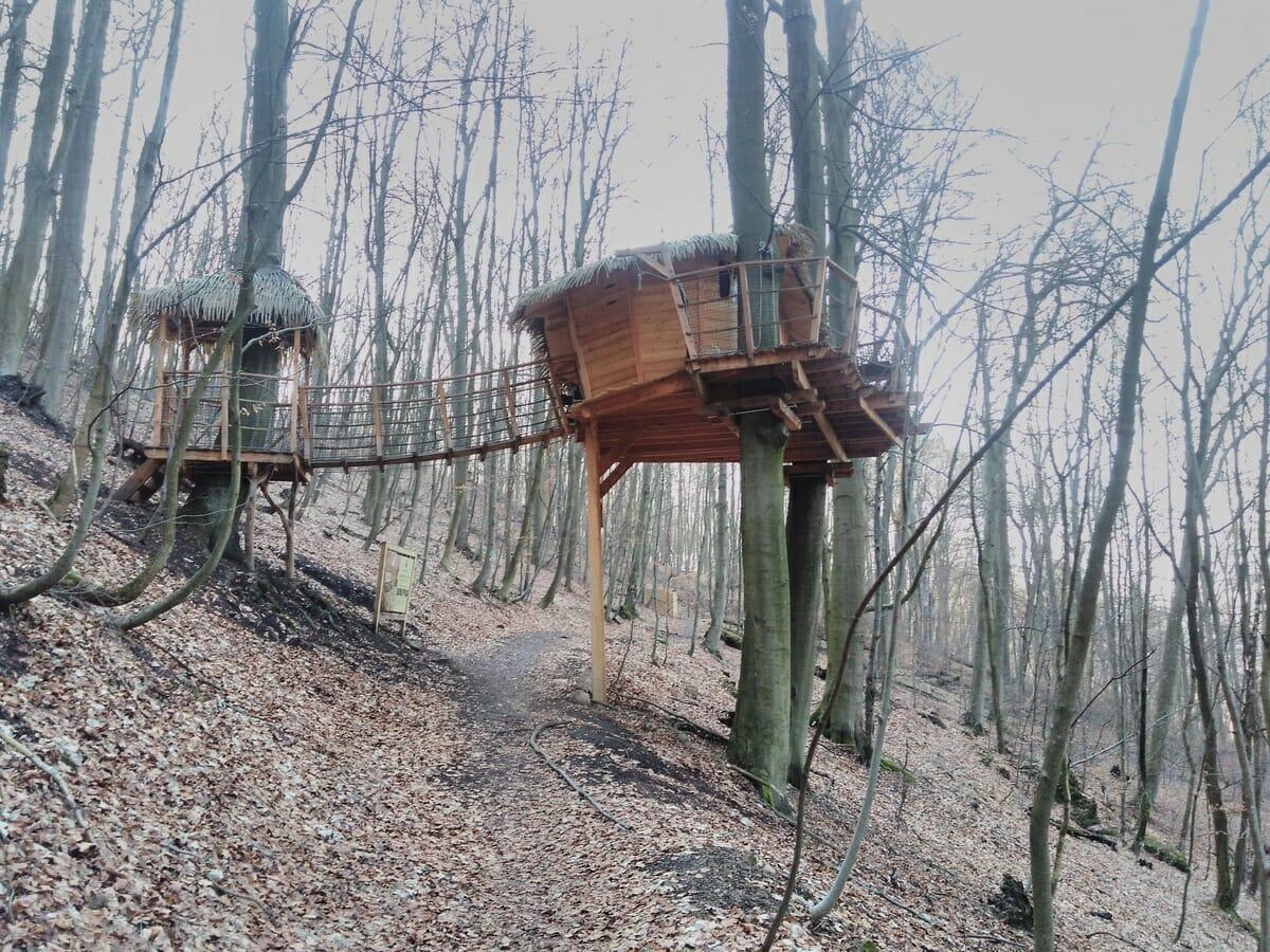 Domček na strome neďaleko náučného chodníka Klepáč