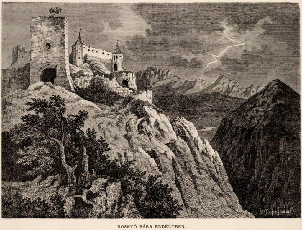 Historická kresba hradu Blatnica