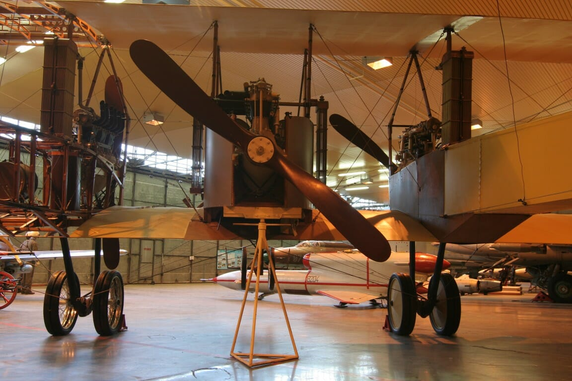 Replika lietadla Caproni, s ktorým sa M. R. Štefánik zrútil pri Ivanke pri Dunaji