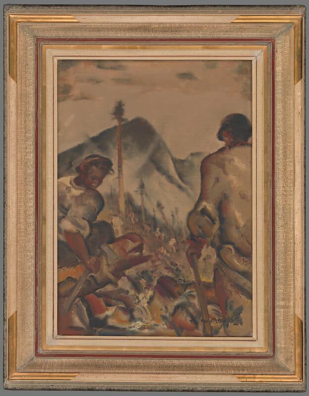 Olejomaľba, Drevári pod Ďumbierom, 1944