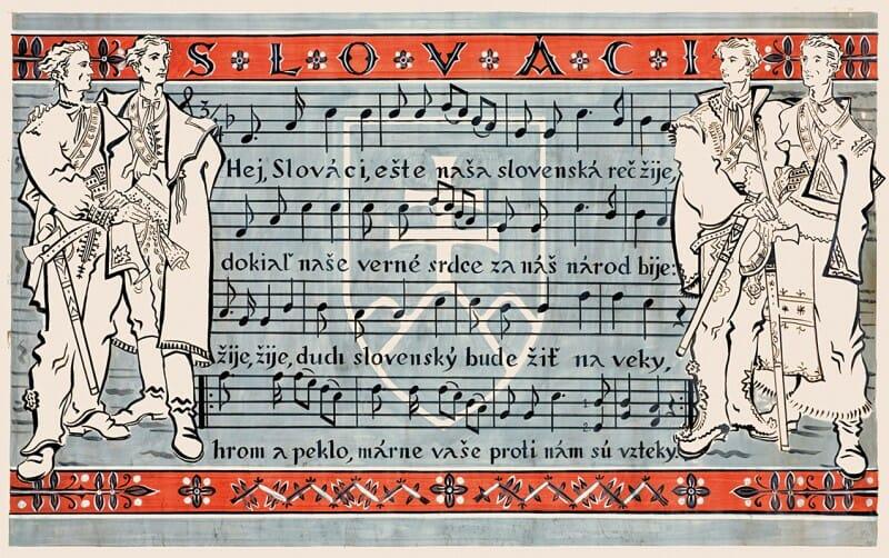 Návrh na plagát s textom piesne