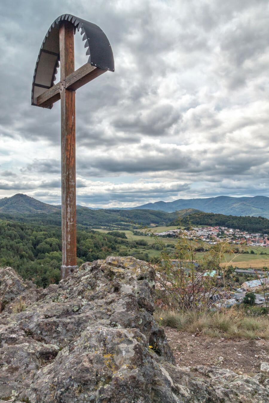 Výhľad z vrcholu Szabóovej skaly