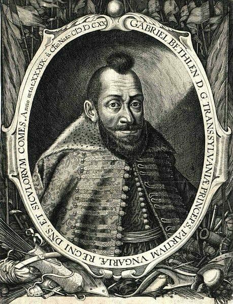 Gabriel Betlen-v roku 1620 zvolený v Banskej Bystrici za protestanského uhorského kráľa, pôvodne poradca Štefana Bočkaja