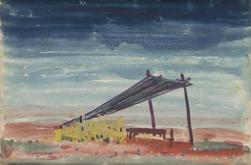 M. A. Bazovský, Podvečer, gvaš 1946–1948