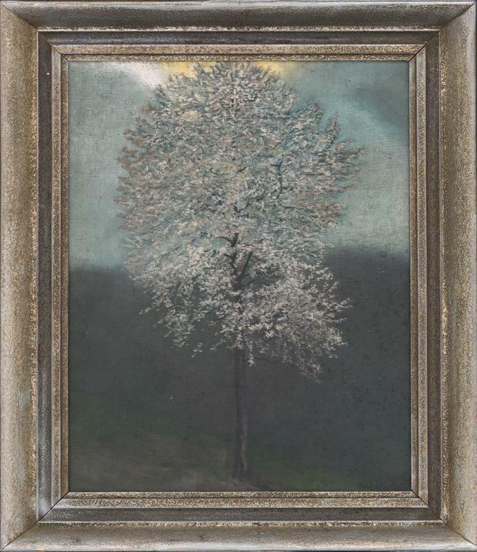 M. A. Bazovský, Zakvitnutý strom, olejomaľba z roku 1922
