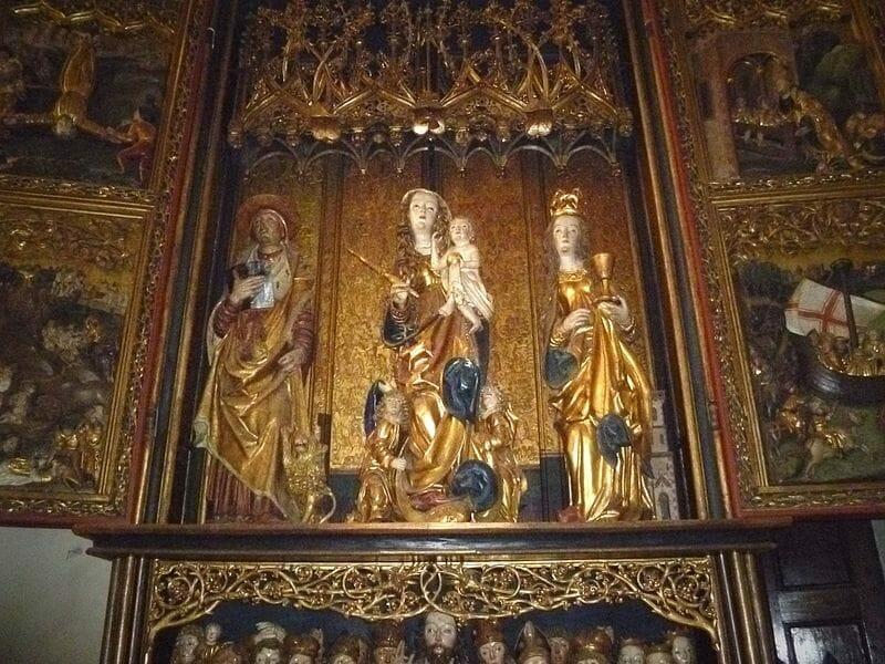 Oltár v Kaplnke sv. Barbory, dielo Majstra Pavla z Levoče