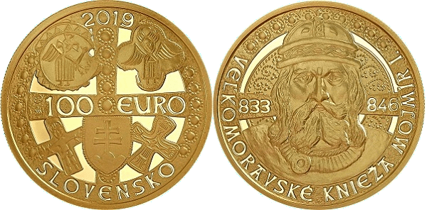 Zberateľská minca Mojmír I.