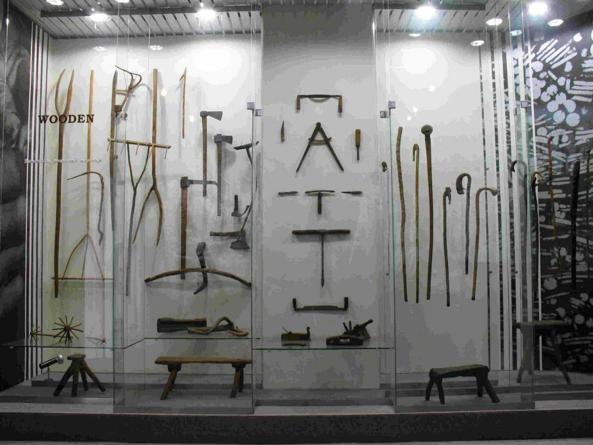 Predmety vyrobené opracovaním samorastov