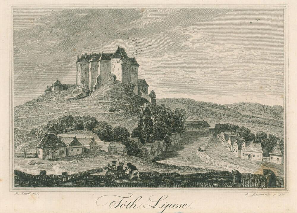 Rytina hradu Slovenská Ľupča, autor Josef Axmann