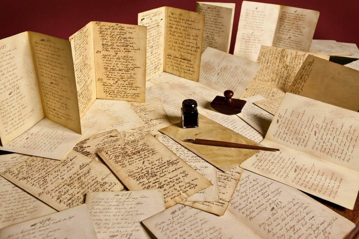 Rukopis A. Sládkoviča básne Marína