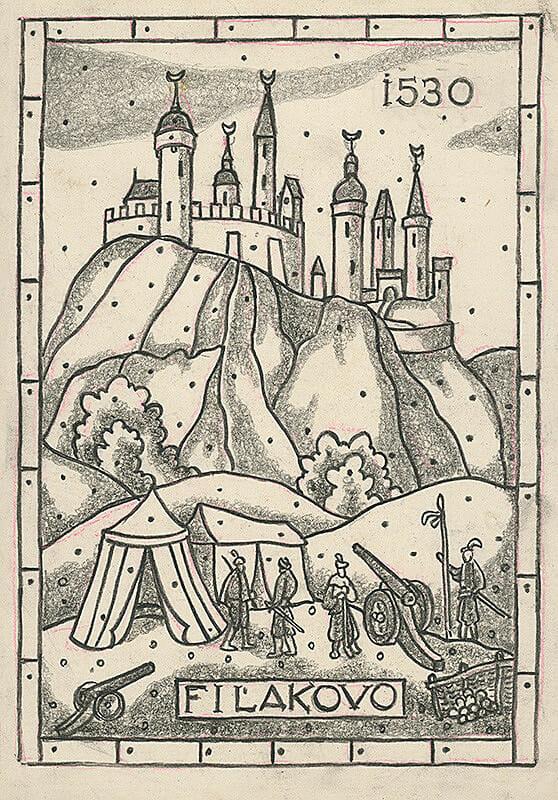 Janko Alexy, Fiľakovo, kresba, PGU, 1530