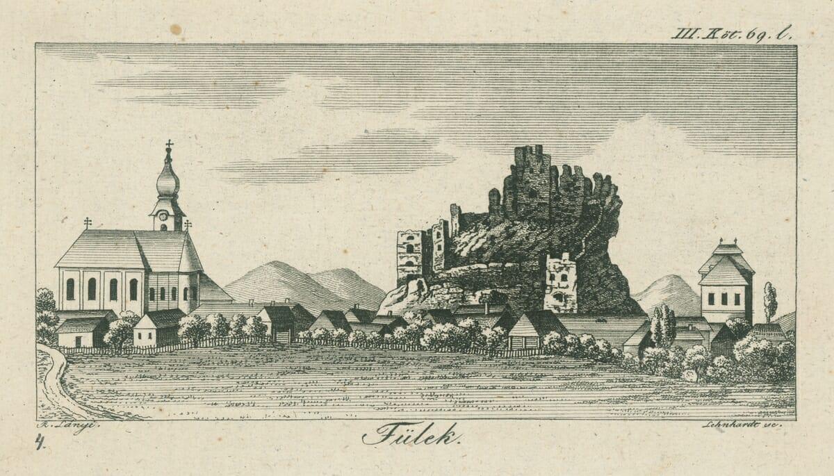 Fiľakovo, Samuel Lehnhardt – rytec, Rudolf Lányi, 1826