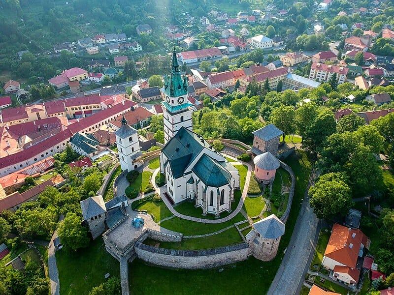Letecký pohľad na Kremnický mestský hrad