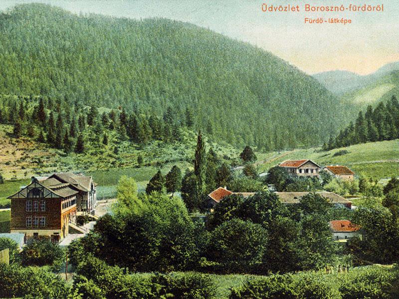 Kúpele Brunso na historickej pohľadnici
