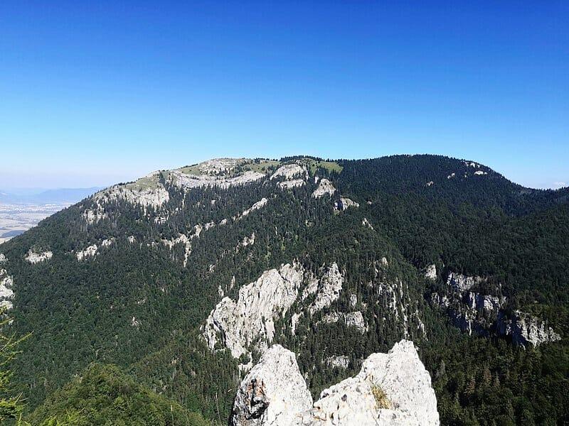 Pohľad na vrch Tlstá z Ostrej