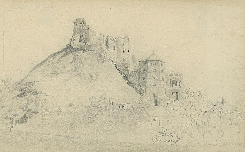 František Klimkovič, kresba, 1860 – 1870