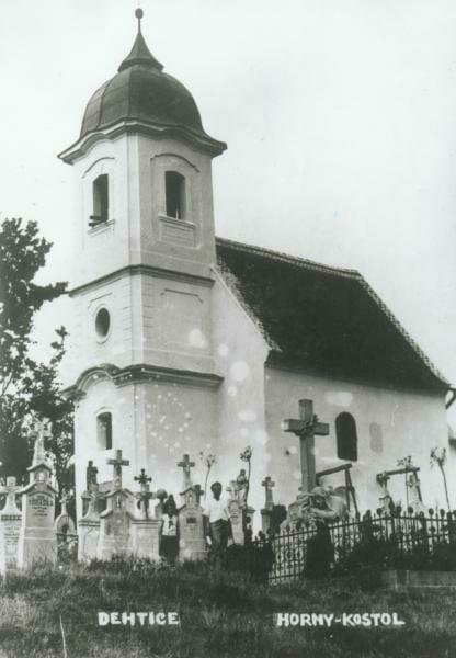 Historické zobrazenie kostola Dechtice 1932