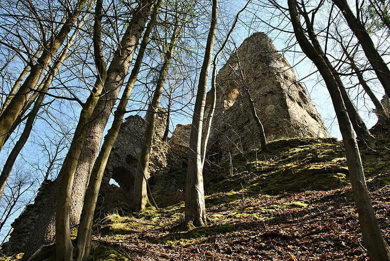 Ruiny Starhradu zo severnej strany