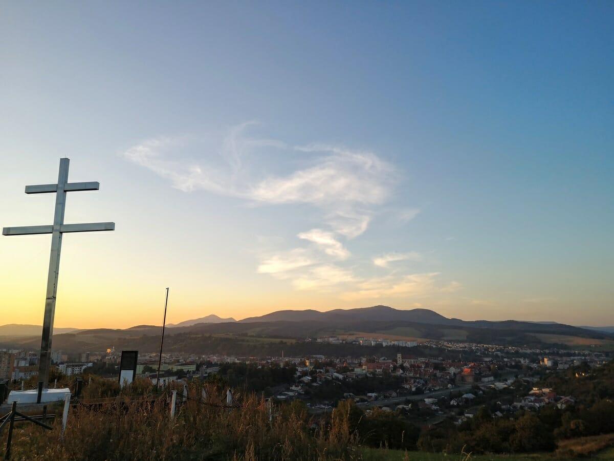 Západ slnka nad Bardejovom
