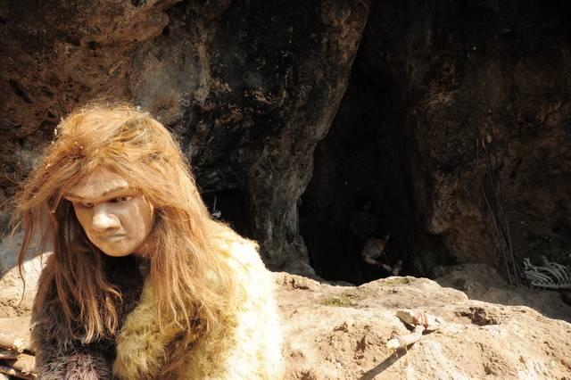Zobrazenie neandertálseho človeka – Múzeum Praveku