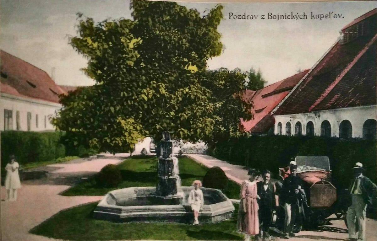 Pozdrav z Bojnických kúpeľov – historická pohľadnica