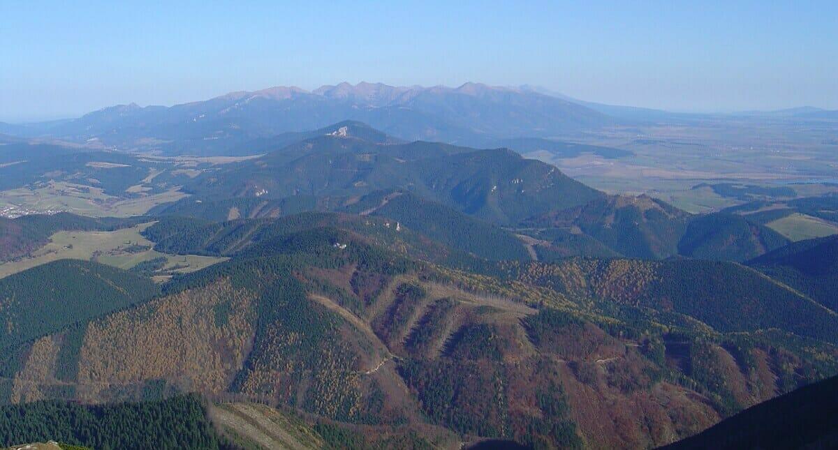 Chočské vrchy z Veľkého Choča