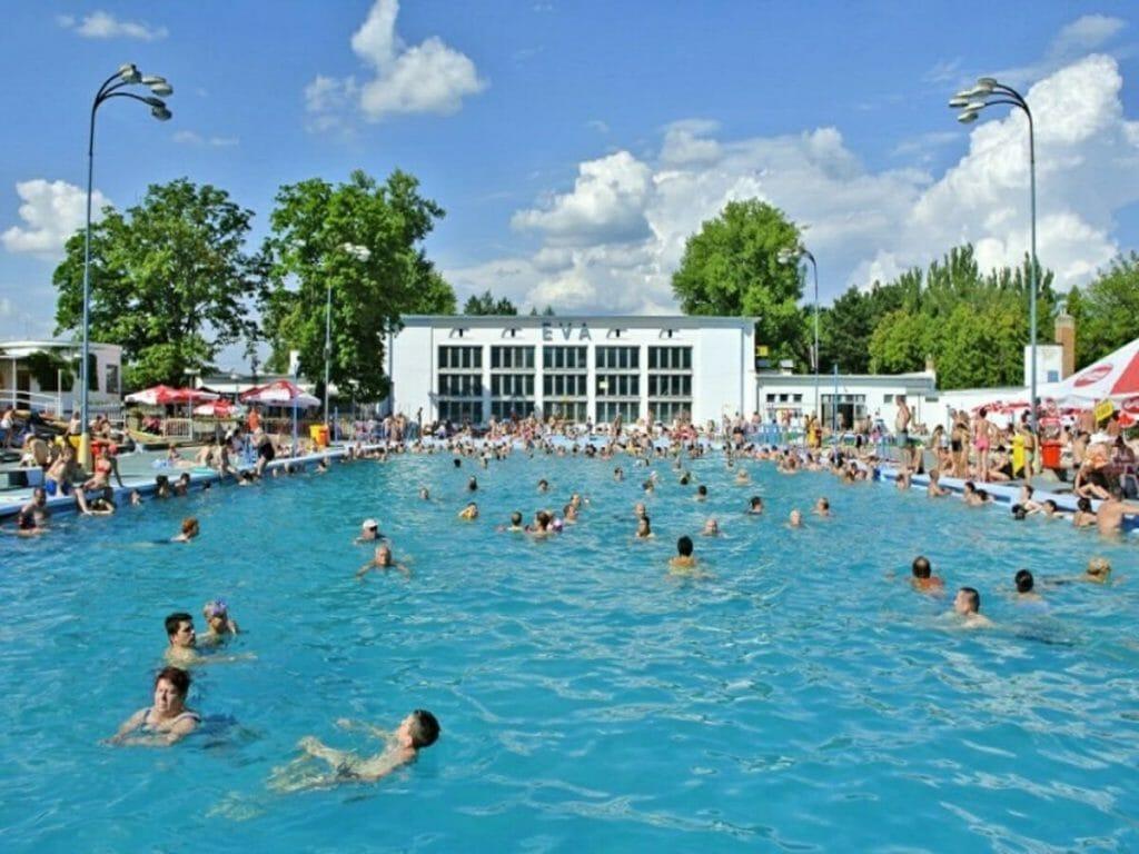 Plavecký vonkajší bazén (50 m) – Kúpalisko Eva Piešťany