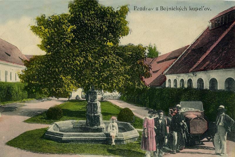 Bojnické kúpele na historickej fotografii