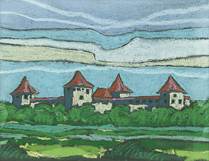 Ján Šimo - Svrček, Opevnený kláštor Bzovík, GUS, 1996