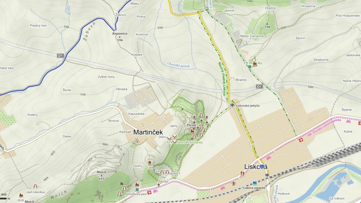Náučný chodník Lisková: PR Mohylky – Liskovská jaskyňa