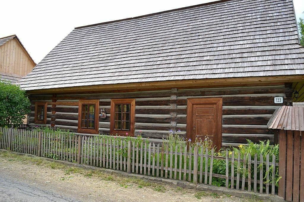Ľudová architektúra v obci Osturňa, okres Kežmarok