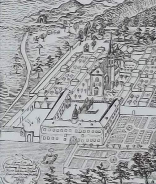 Zoborský kláštor na kresbe