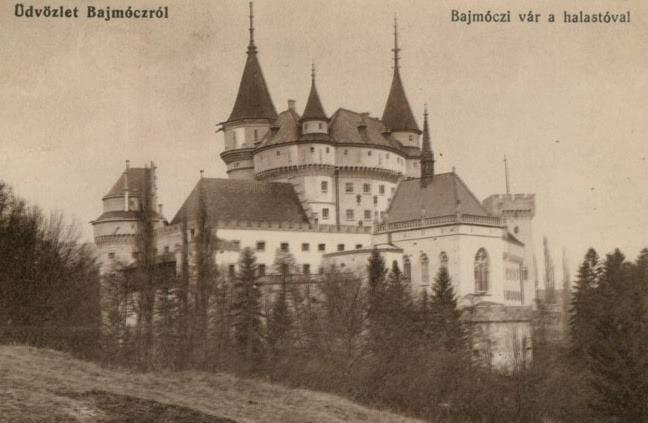 Bojnický zámok v roku 1916 – historická fotografia