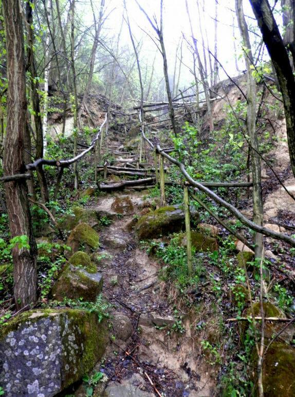 Schody –prevýšenie cca 15 metrov