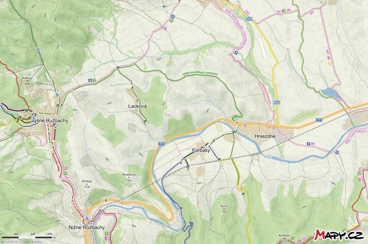 Cesta minerálnych prameňov v okolí Ružbach