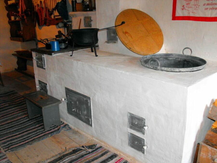 Kuchynská časť Baníckeho domu Vyšná Boca
