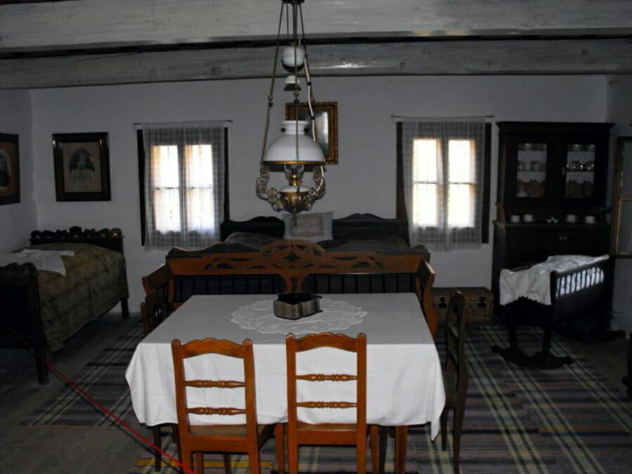Spálňová časť Baníckeho domu Vyšná Boca