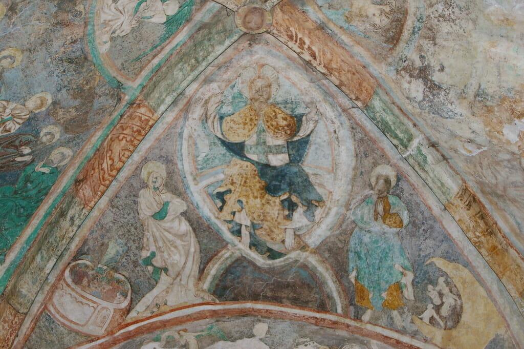 Fresková maľba v Kostole všetkých svätých v Ludrovej