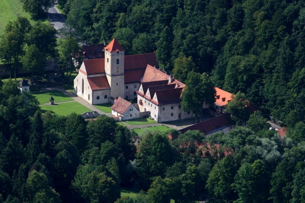 Letecký pohľad na Červený kláštor