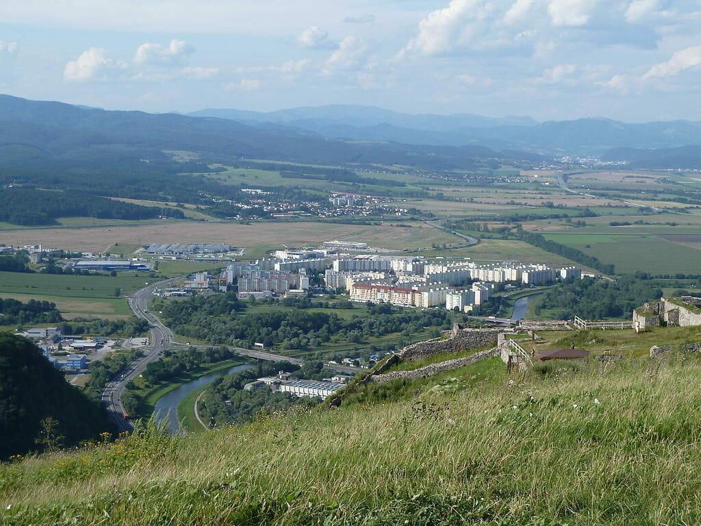 Zvolenská kotlina a časť mesta Zvolen