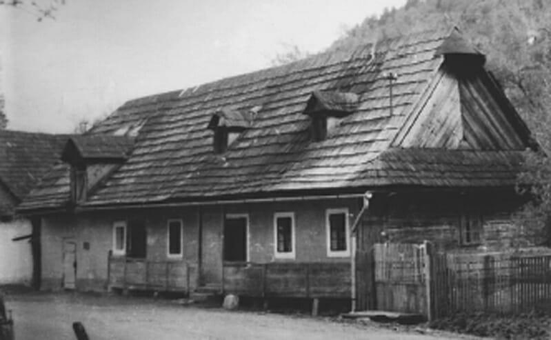 Historická fotografia rodného domu J.G.Tajovského