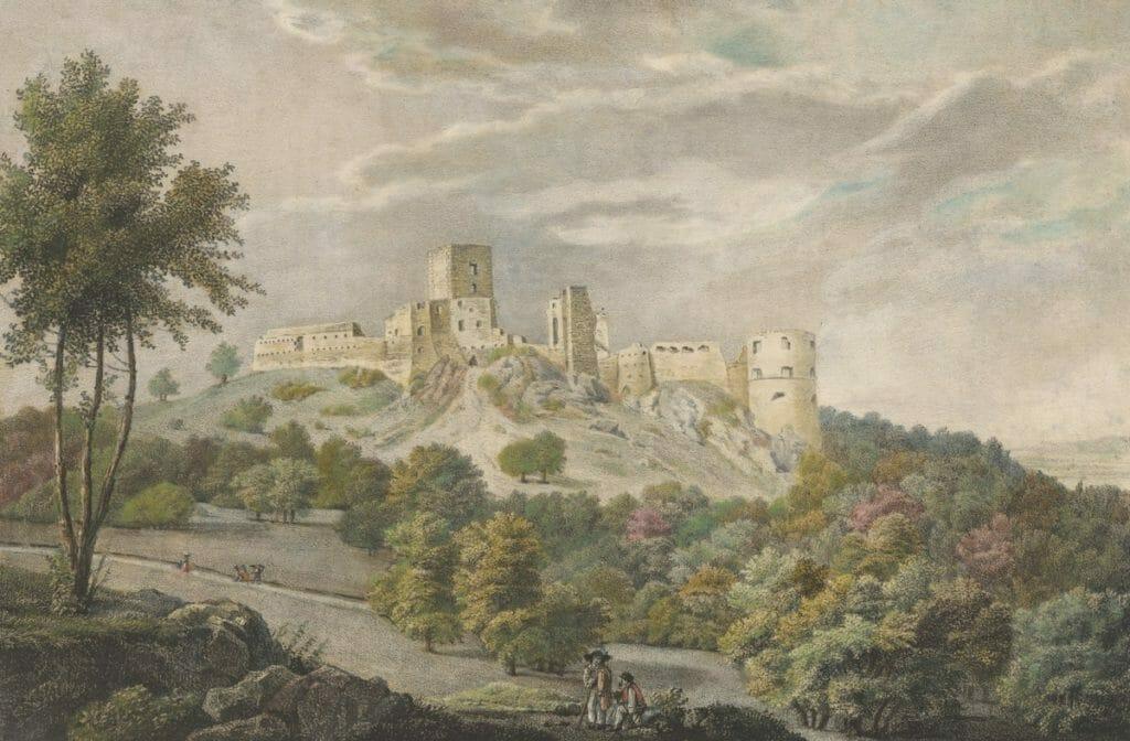 Smolenice (Zrúcaniny Smolenického hradu), Jozef Anton Lántz, 1827, SNG