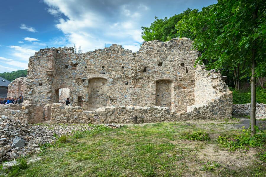 Pohľad na objekt Zoborského kláštora