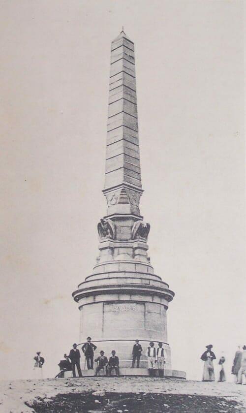 Milenárny pamätník na vrchu Zobor v rokoch 1896-1921