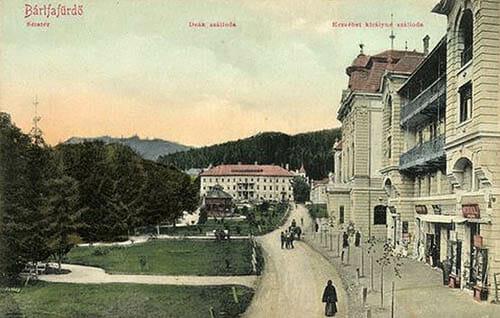 Bardejovské Kúpele na historickej pohľadnici